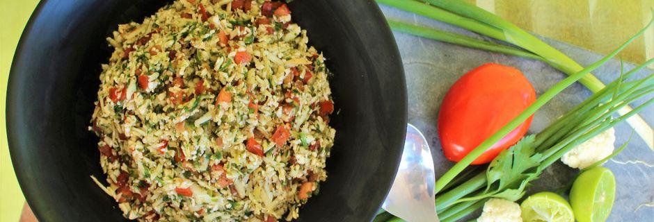 Salade de Chou Fleur Cru, façon Taboulé