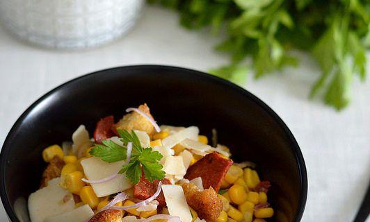 Salade gourmande Maïs, Chorizo