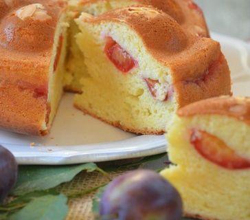 Gâteau aux prunes et fromage blanc