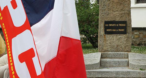 Journée nationale de la Résistance 2017 Trignac - Allocution de Véronique MAHE  Secrétaire section PCF Brière