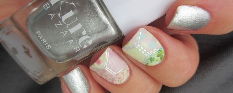 Nail Art Patchwork Metallic