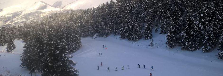 La station de Val Louron sous la neige de Janvier