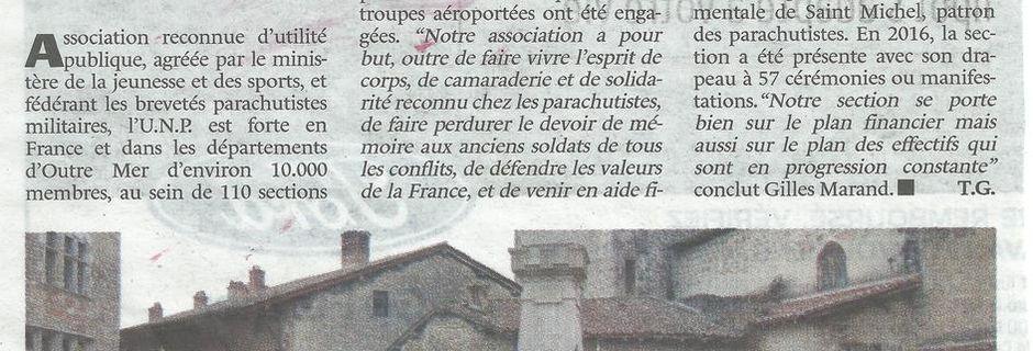 Assemblée Générale 2017 à Pérouges, la section dans la presse