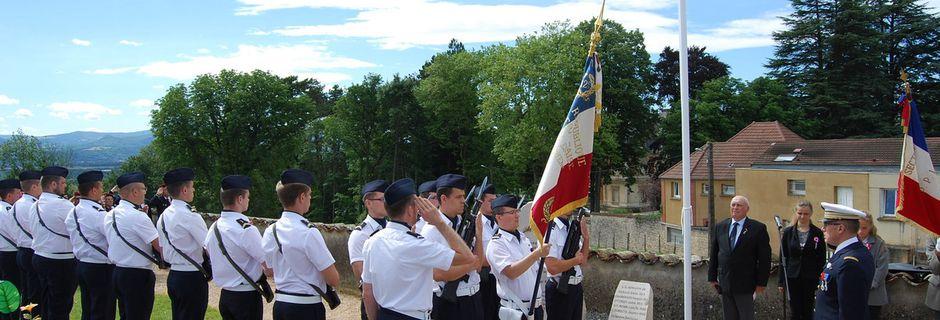 Inauguration du Carré Militaire de Chatillon La Palud