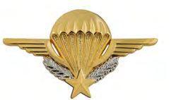 Nouvel insigne métallique de brevet parachutiste cadre des troupes aéroportées