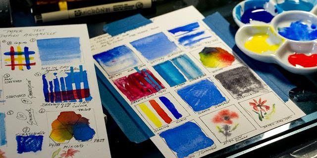 58 Différents Papiers Aquarelle Testé ... première découverte