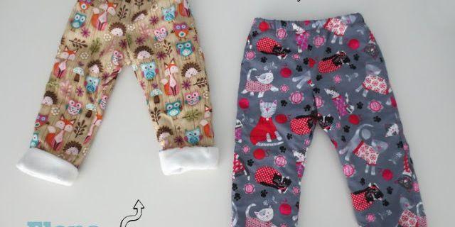 Détournement d'un pantalon de pyjama en pantalon doublé polaire