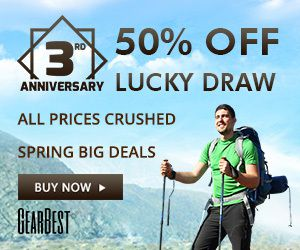 Gearbest 3rd Anniversary Formal Phase Daily News:Deal Info VS How to get your favorite product?