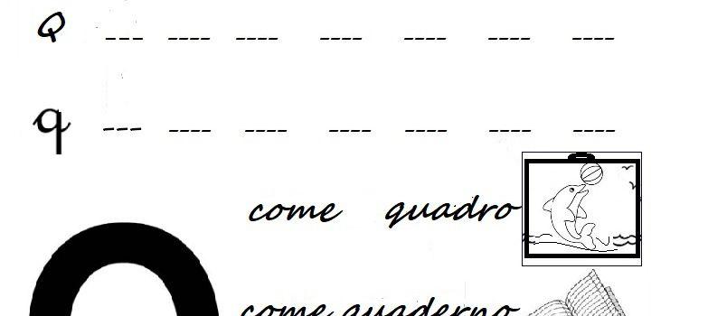 Lettera Q come quadro, quaderno, quaglia e quercia