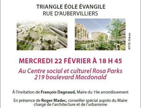 Triangle Eole Evangile : réunion publique le 22 février