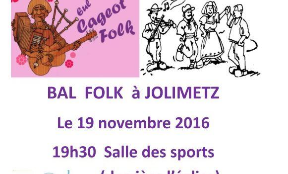 Bal Folk Jolimetz le 19 Novembre 2016