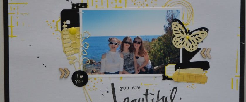 """You are beautiful"" Tournoi Scrapbookit challenge 1"