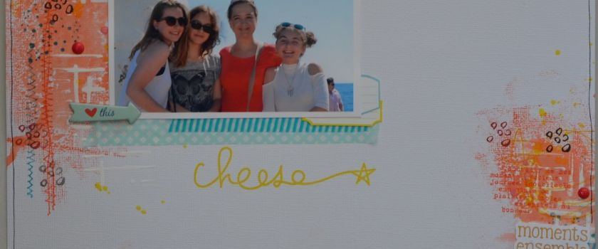 """Cheese"" tournoi Scrapbookit challenge 2"