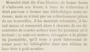 Curiosités littéraires et bibliographiques (1890) - Charles Monselet.