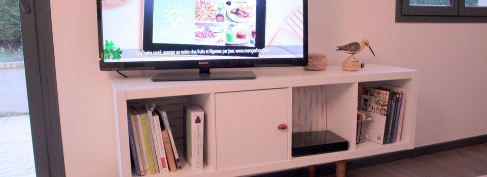 Déco pas cher: Meuble TV vintage ou comment transformer un meuble Ikea partie 2