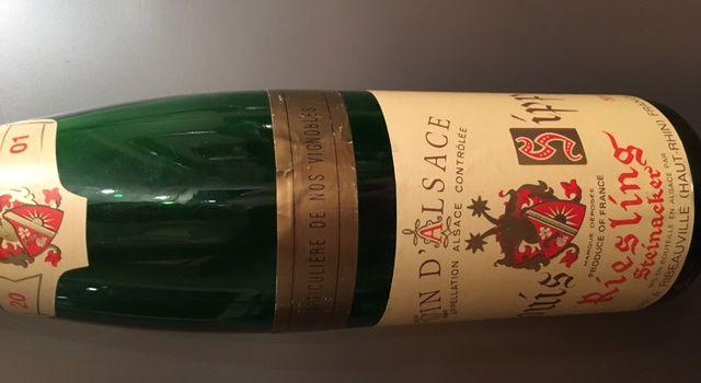 Alsace riesling steinacker 2001 Louis Sipp