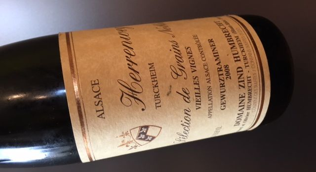 Alsace gewurztraminer vieilles vignes Herrenweg de Turckheim sélection de grains nobles 2008 Zind-Humbrecht