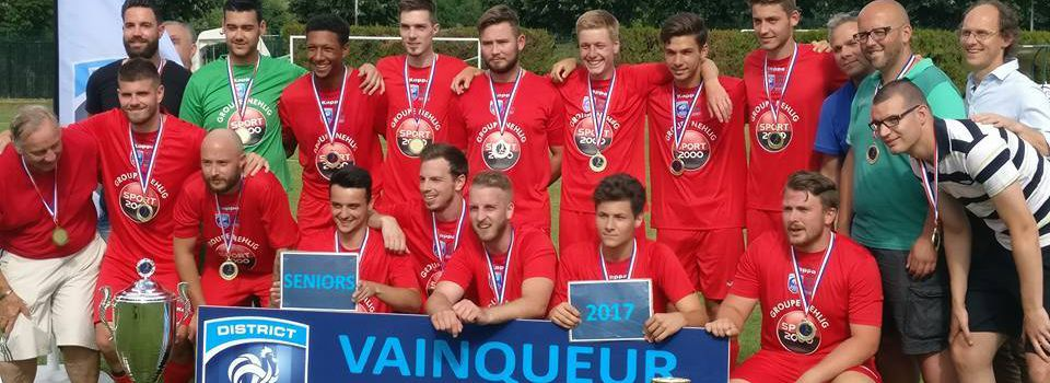 Seniors B : Vainqueurs de la Coupe de District 2016-2017