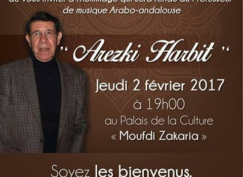 Hommage à Mr. Arezki Harbit par l'association Mezghena