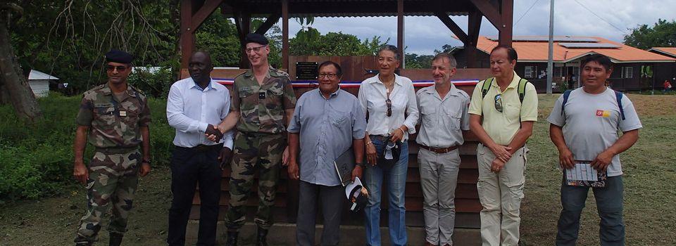 Inauguration de huit carbets de propreté à Taluen