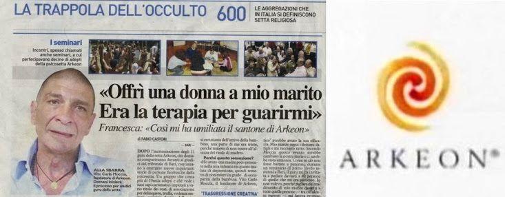 SE CONDENA EN ITALIA  AL  DIRIGENTE DE ARKENON (Psico-Secta),POR  PASARSE POR PSICÓLOGO