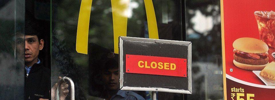 McDonald's ferme près de la moitié de ses restaurants en Inde