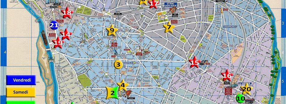 Manifestations - carte localisation