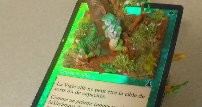 Altération de cartes Magic à la demande.