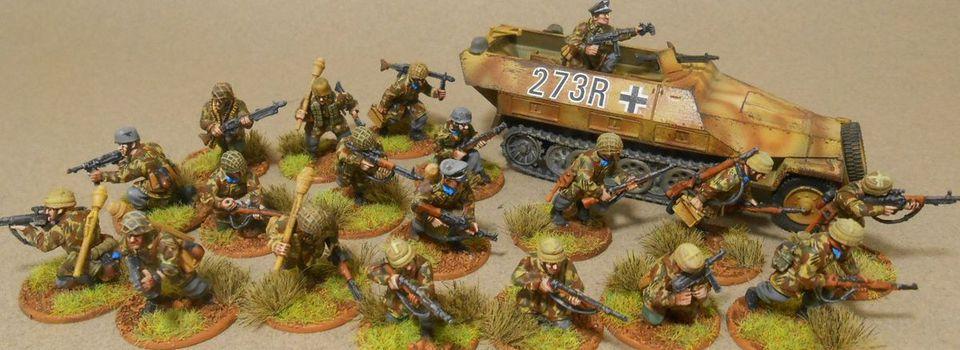 Commande Bolt action, 28mm. Fallshrimjaegers et Nashorn.