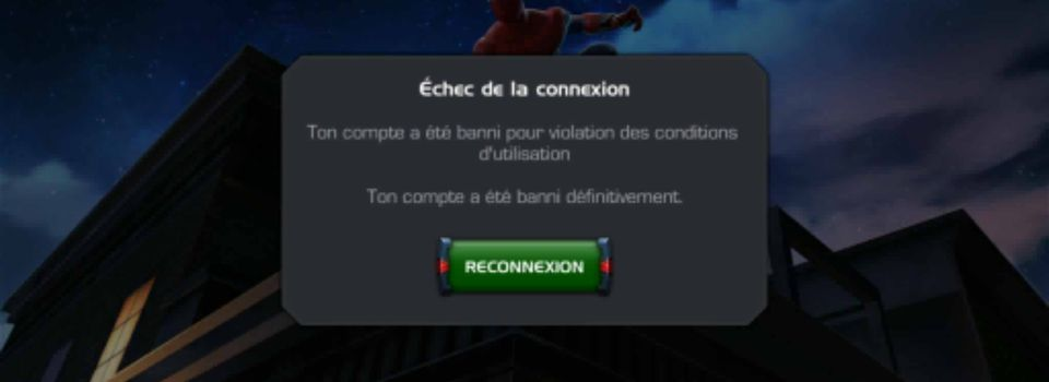 Les profils qui sont banned.... marvel contest of champions.
