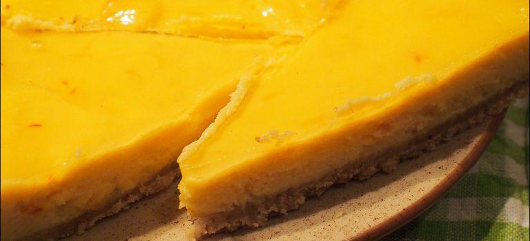 tarte à l'huile d'olive citron et safran