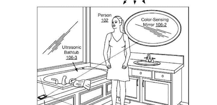 Un brevet a été déposé par Google pour présenter une salle de bains entièrement connectée